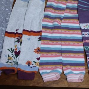 4 PAIRS Hanna Andersson footless tights SZ 130/140